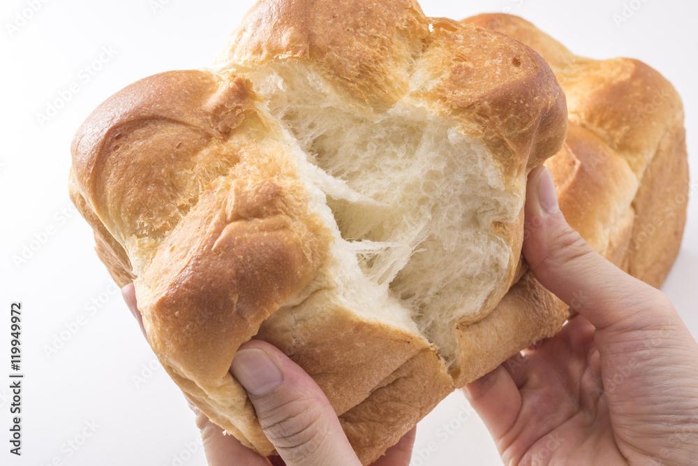 手で割った食パン