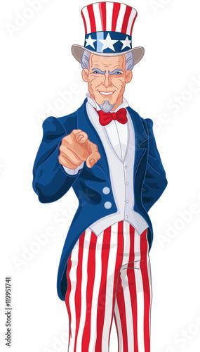 Printed kitchen splashbacks Fairytale World Uncle Sam Wants You!