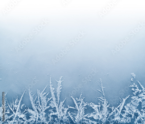 Tablou Canvas Frost Crystal Border on Ice