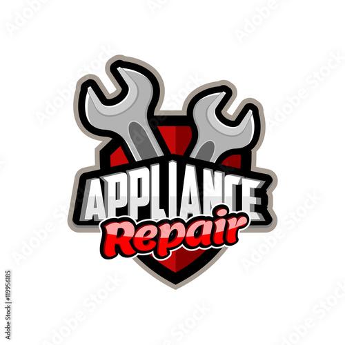 Appliance Repair logo emblem badge - Buy this stock vector and