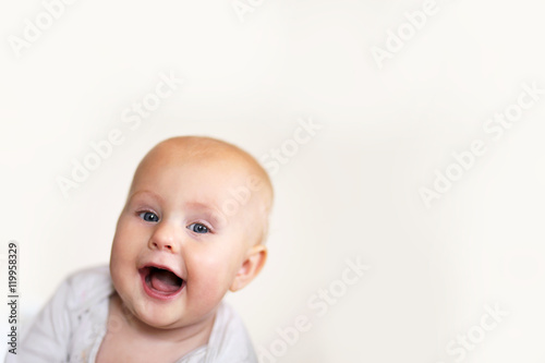 Happy Toothless Baby Girl Smiling Poster