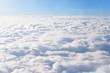 Leinwandbild Motiv View of cloudscape in sunny day