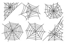Halloween Spider Web Isolated ...