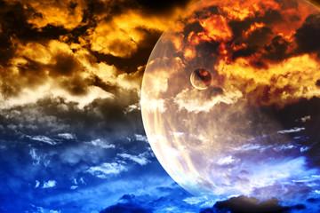 Fototapeta zachmurzone planety