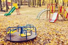 Empty Playground Equipment In ...