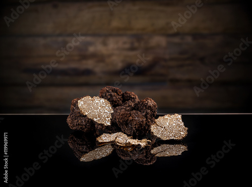 Black autumn truffles