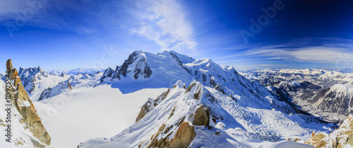 Photo Mont Blanc and Chamonix, view from Aiguille du Midi