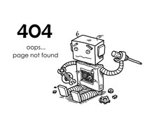 Page Not Found Error 404. A Ha...