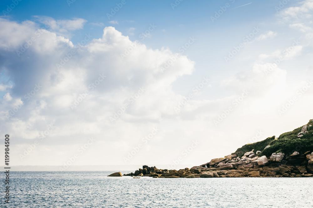 Land und Meer/Übergang von Küste und Wasser Foto, Poster, Wandbilder ...