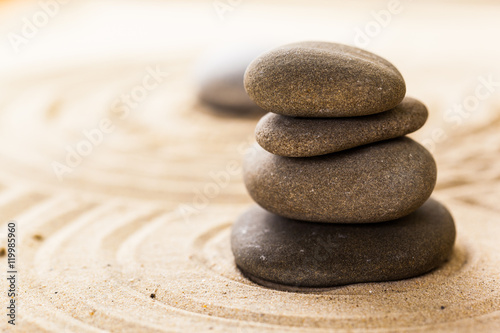 Deurstickers Stenen in het Zand zen garden meditation stone background