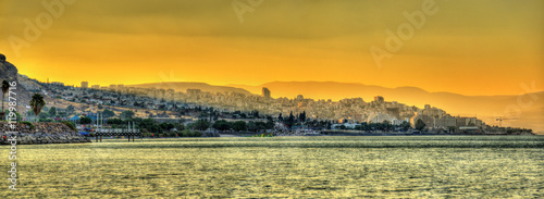 Valokuva Tiberias city and the Sea of Galilee in Israel