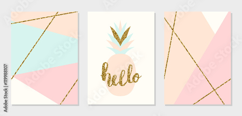 Fotografie, Obraz  Abstract Design Cards Collection