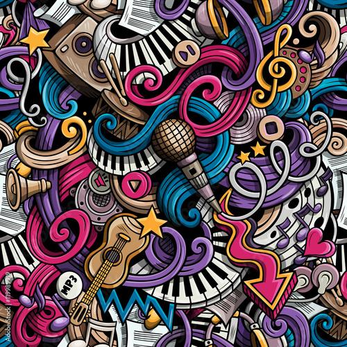 cartoon-hand-drawn-doodles-music-seamless-pattern