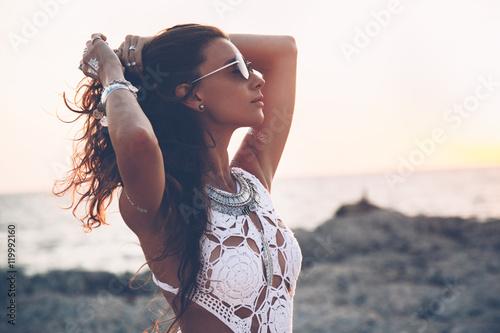 Photo  Girl in boho style