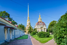 Saint Petersburg, Russia. The Peter And Paul Fortress. The Peter And Paul Cathedral And The Grand Ducal Burial Vault.