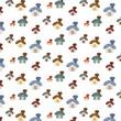 small cute cartoon house set pattern background