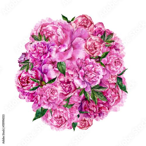akwarelowy-rysunek-bukietu-kwiatow-z-gornej-perspektywy-na-bialym-tle