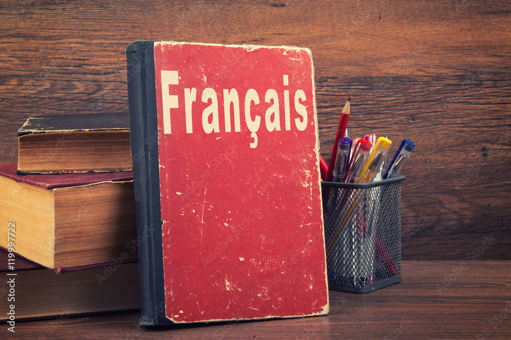 Fototapety, obrazy: learning French concept