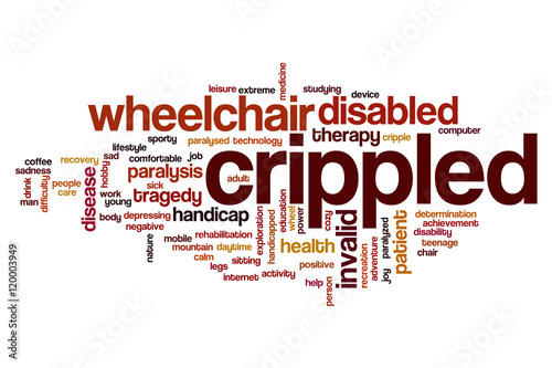 Crippled word cloud Fototapete