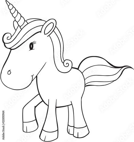 Recess Fitting Cartoon draw Cute Doodle Unicorn Vector Illustration Art