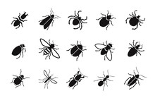 Pests And Various Insects Set ...