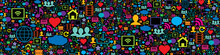 Seamless Pattern With Social M...