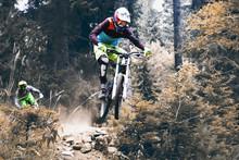 Biking As Extreme And Fun Sport, Downhill Jump Racing