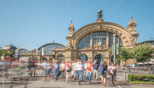 Canvas Prints Train Station Hauptbahnhof Frankfurt am Main