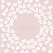Pink Frame With White Hearts
