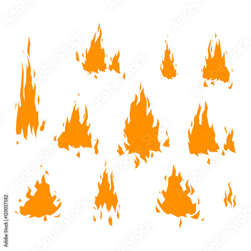 Printed kitchen splashbacks Illustrations Fire flame vectorisolated