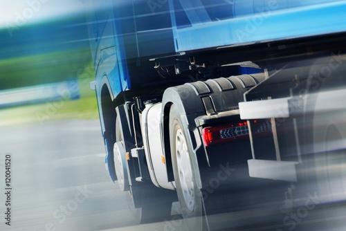 Fototapeta Semi Truck Spedition