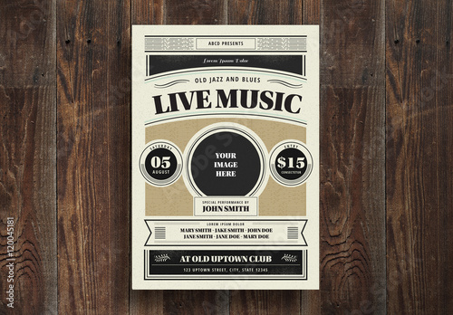 Live Music Flyer Buy This Stock Template And Explore Similar