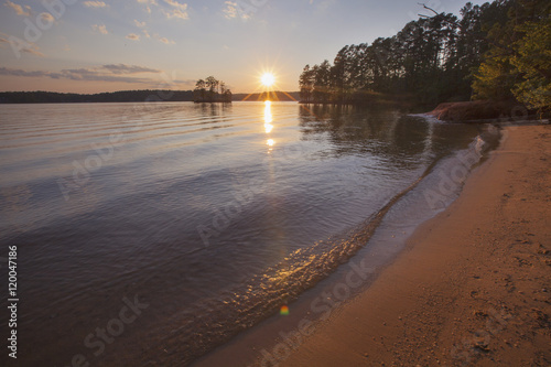 A sunset view of Lake Norman in North Carolina. Wallpaper Mural