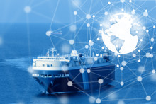 Best Global Connection Of Industrial Container Cargo Freight Ship For Logistic Import Export Background Background (Elements Of This Image Furnished By NASA)