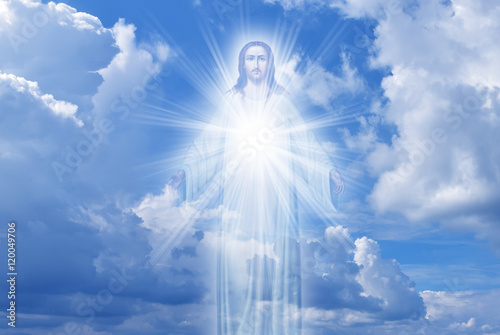 Jesus Christ in Heaven religion concept Poster