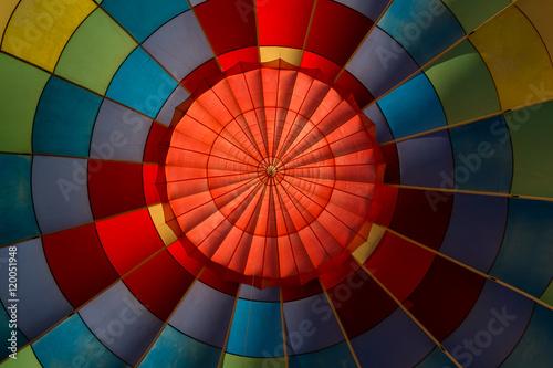 Keuken foto achterwand Ballon Inside of hot air balloon