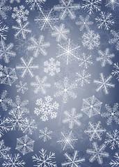 Fototapeta Boże Narodzenie/Nowy Rok Snowflake card