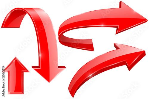Fotografía  Red arrows. Web shiny icons