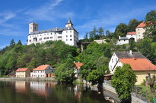 Rozmberk Castle In Sunny Day