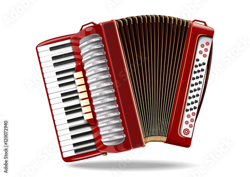 Fotomural Classical bayan (accordion), harmonic, jew's-harp