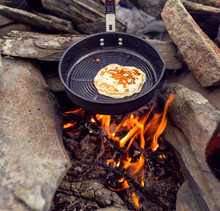 Close-up Of Pancakes On A Fryi...