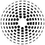 Koncentryczne linie przerywane linii - Abstrakcyjny element geometryczny na w - 120075910