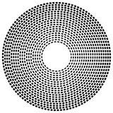 Koncentryczne linie przerywane linii - Abstrakcyjny element geometryczny na w - 120075935