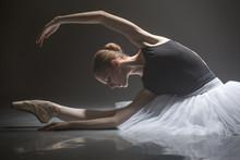 Seated Ballerina In Class Room