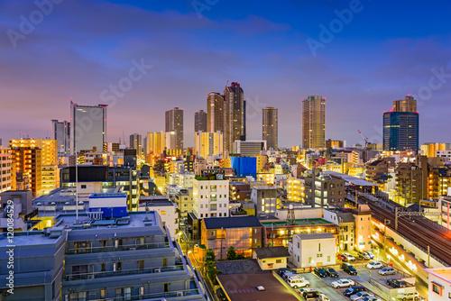 Obraz na plátně Kawasaki, Japan Skyline