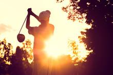 Hit Golf In Strong Sunlight.