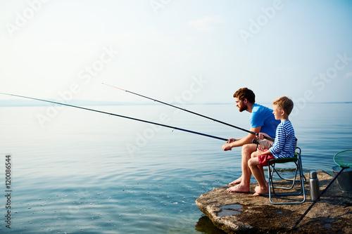 Fishing in river