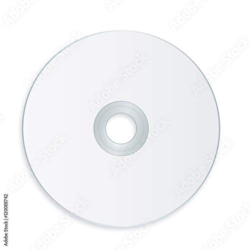 Pinturas sobre lienzo  Cd template with blank label - vector illustration