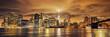 canvas print picture - Manhattan at sunset