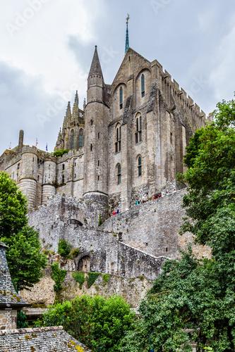 Fotografia Abbey Mont Saint-Michel (7th centurie). Normandy, France.